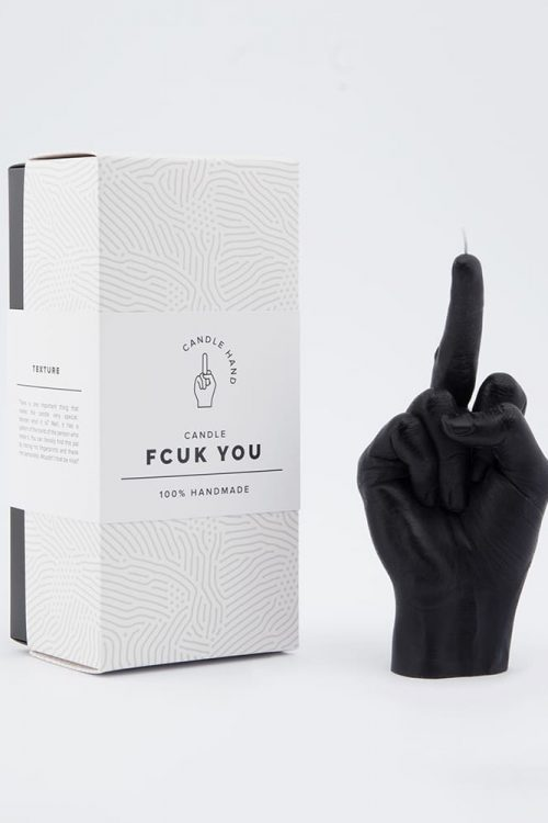"""""""fcuk"""" Hand Gesture Candle Black"""