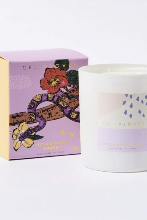 Celia Loves Lychee Guava Sorbet 40hr Candle