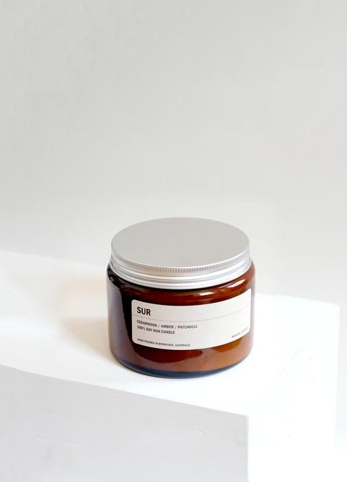 Amber Jar Soy Candle – Sur  500g