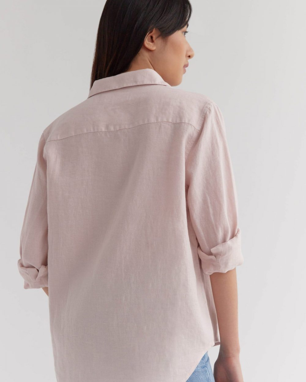 Assembly Label Long Sleeve Shirt Linen Pink Clay
