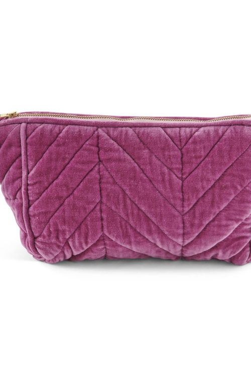 Kipandco Ss21 Kissable Quilted Velvet Toiletry Bag