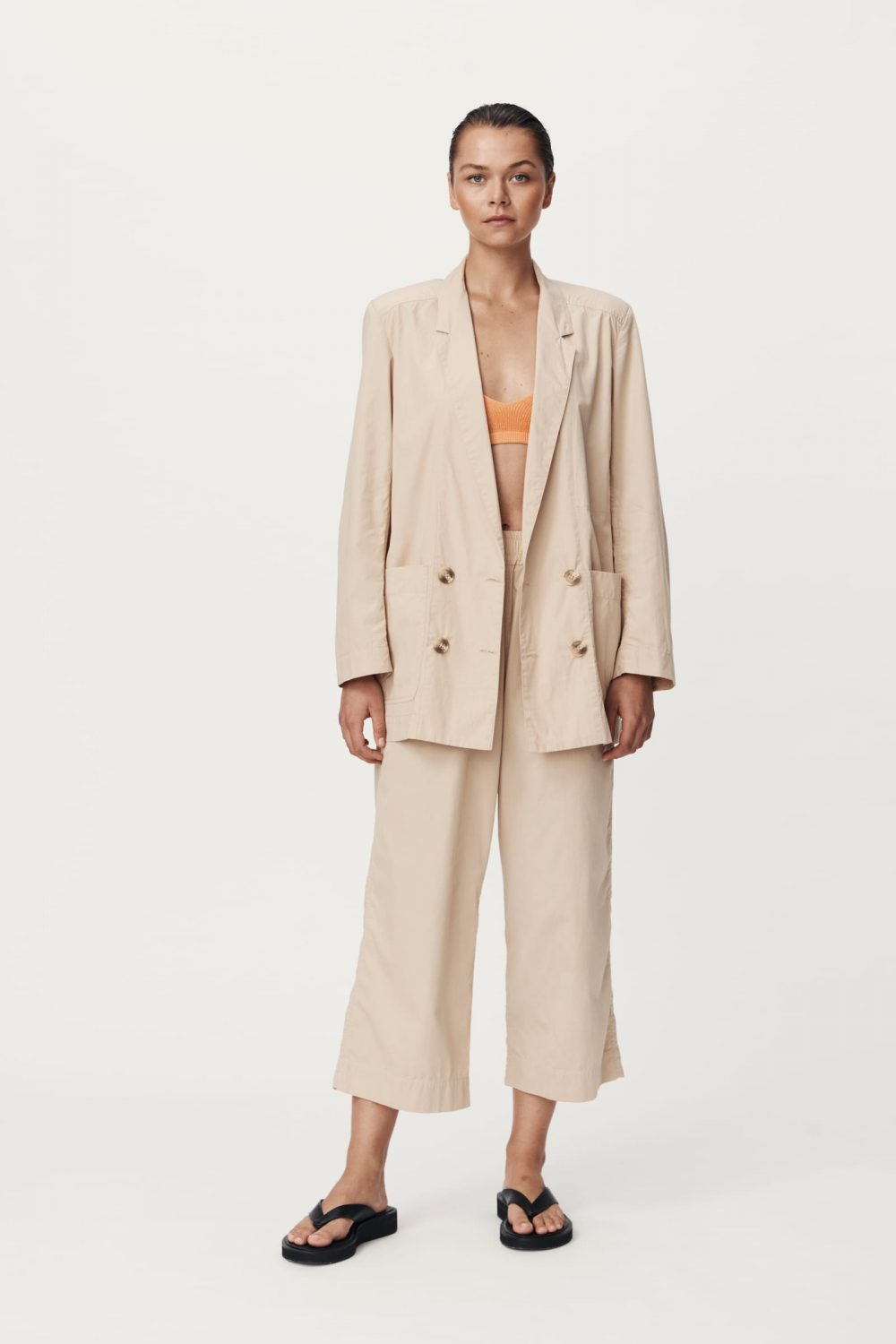 Rowie The Label Rs21 Popf Phillip Organic Pant Fawn Spring21 0161