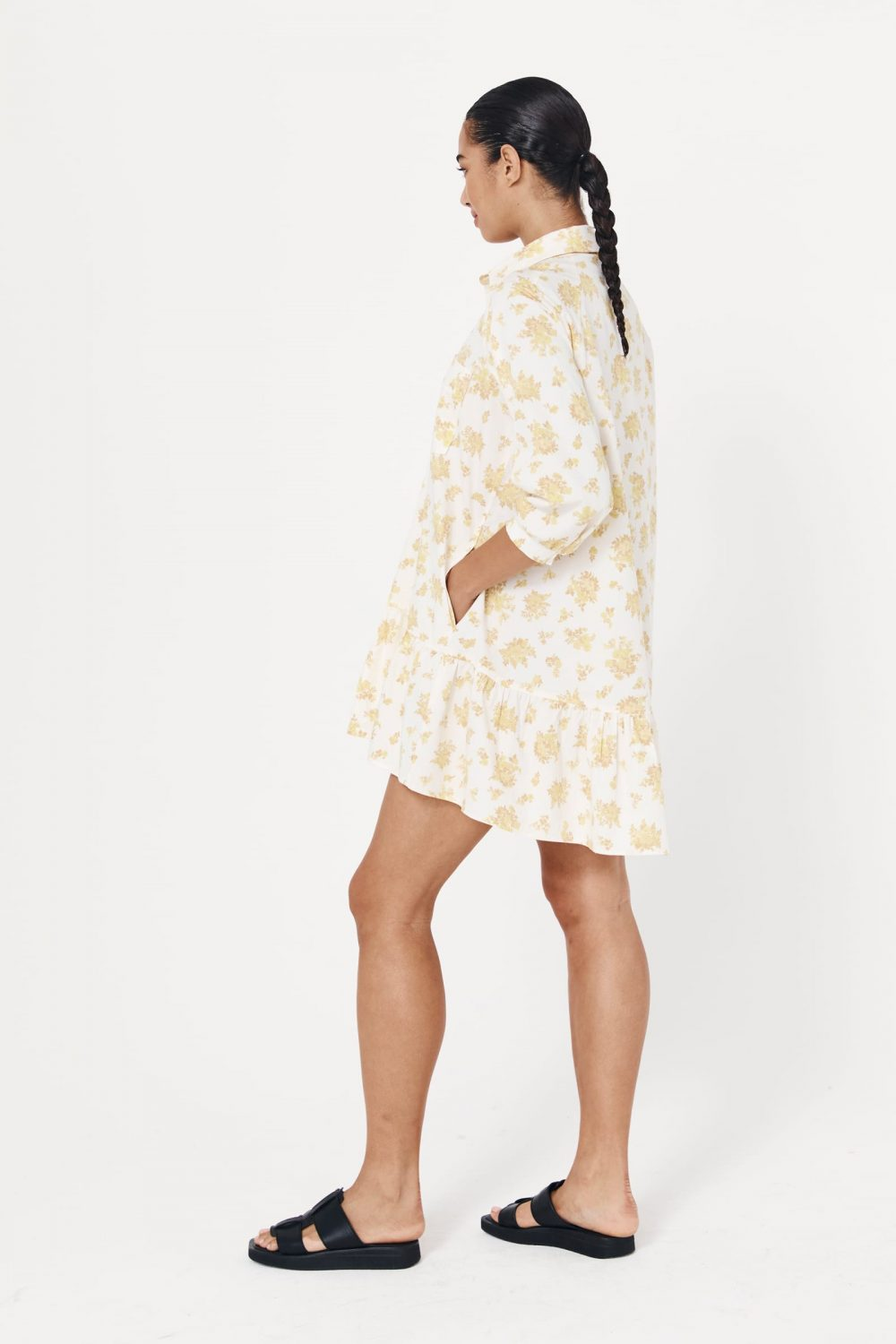 Rowie The Label Rs21 Sodbl Stacey Organic Mini Dress Blossom Spring21 1060