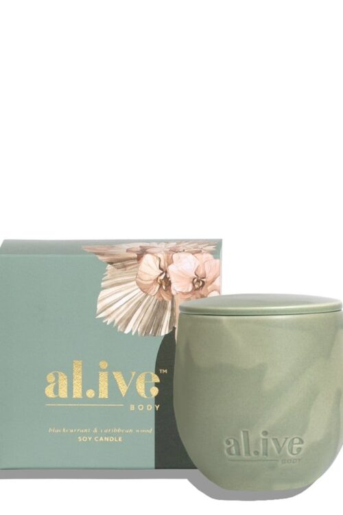 Alive Body Blackcurrant And Carribean Candle