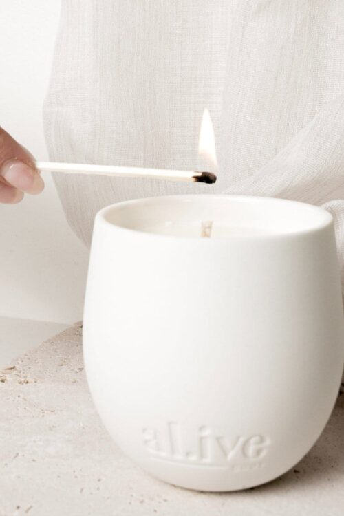 Alive Candle White