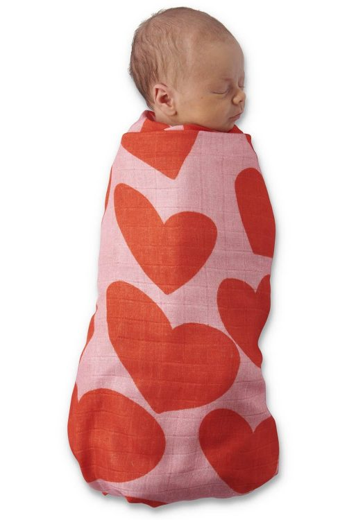 Kipandco Ss21 Big Hearted Bamboo Swaddle