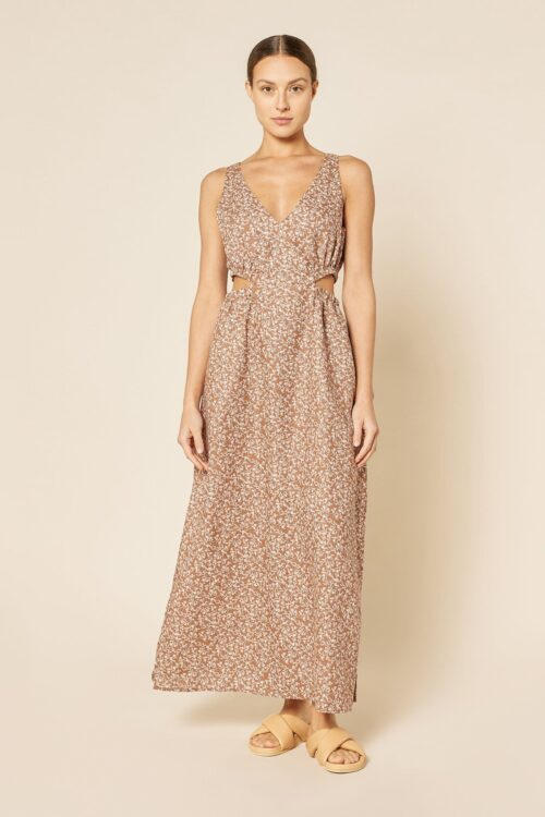 Nude Lucy Alina Cut Out Maxi Dress Persian Floral